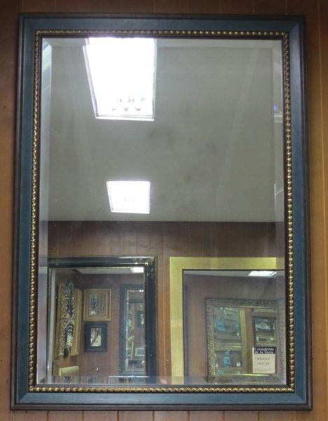 ESPEJO MADERA MARCO AZUL - Cristalerias de la Torre